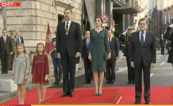Felipe VI da su primer discurso en el Parlamento desde su proclamación como Rey. Solemne Apertura de la XII Legislatura.