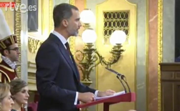 El Rey elude a Cataluña y al cumplimiento de la ley: