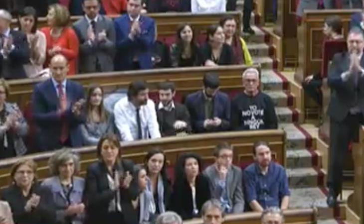 El Rey finaliza su discurso y Unidos Podemos ya ni se levanta