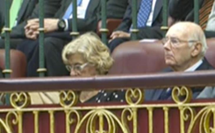 Manuela Carmena no ha querido perderse el discurso del Rey... ¿La perdonarán?