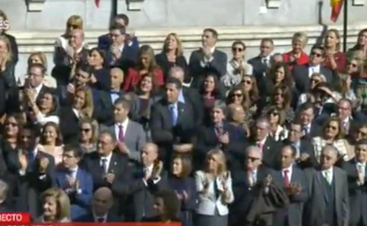 Concluye el desfile militar entre aplausos