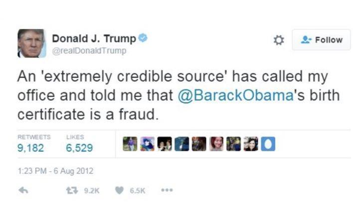 Una fuente extremadamente creíble acaba de llamar a mi oficina para decir que el certificado de nacimiento de Obama es un fraude