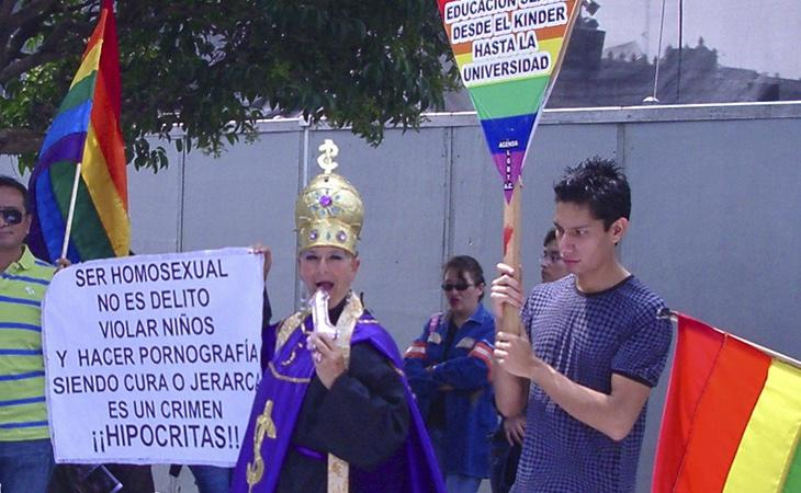 Protestas en México en defensa de los derechos LGTB