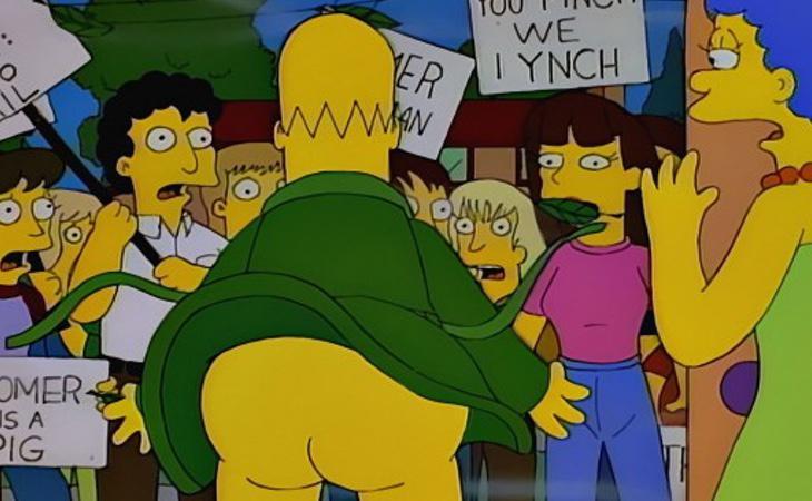 Homer Badman representa la teoría de la virtud superior de los oprimidos