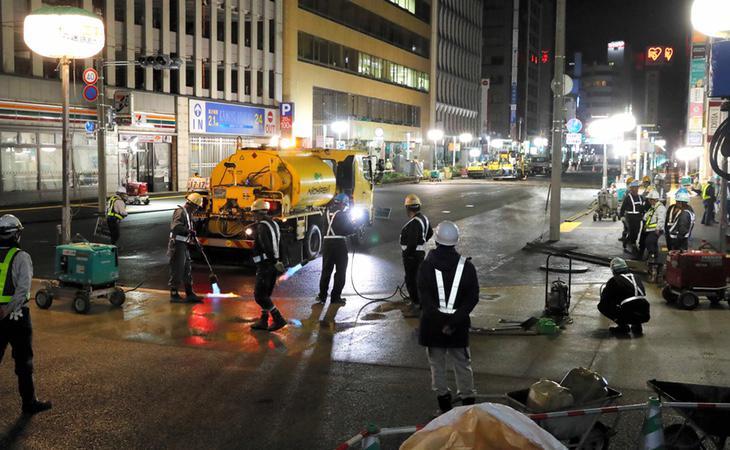 Los servicios de la ciudad trabajaron día y noche para arreglar el problema
