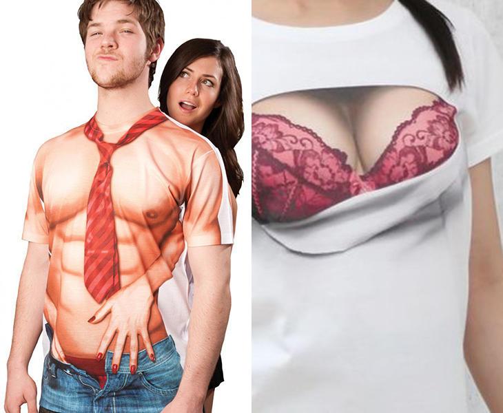 Camisetas de torso descubierto