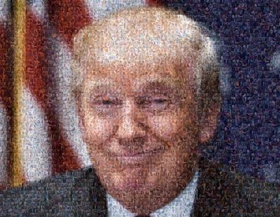 Un hombre ha recreado el rostro de Donald Trump con cientos de fotos de penes