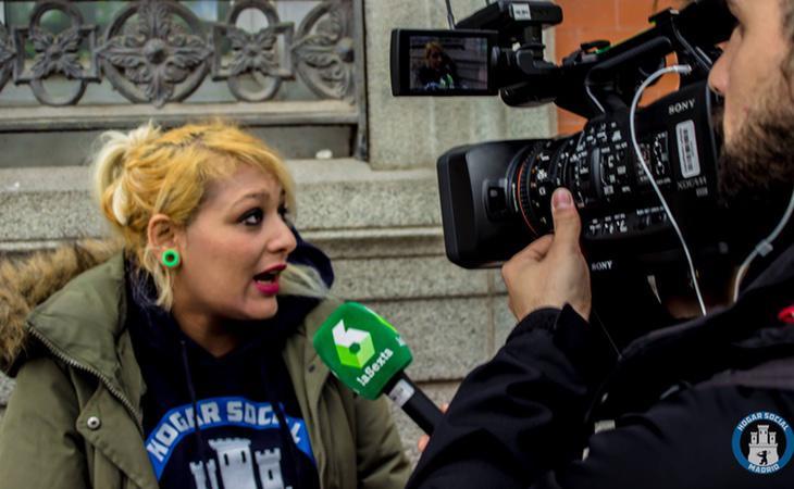 Melisa en una entrevista para La Sexta