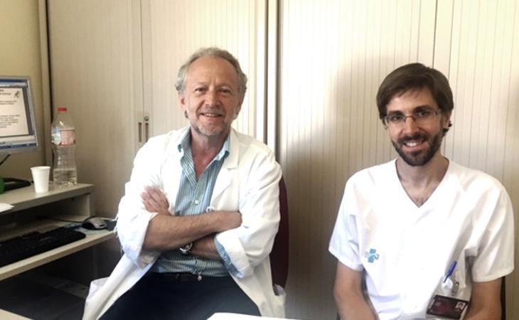 Dos de los investigadores, Daniel Podzamczer y Arkaitz Imaz