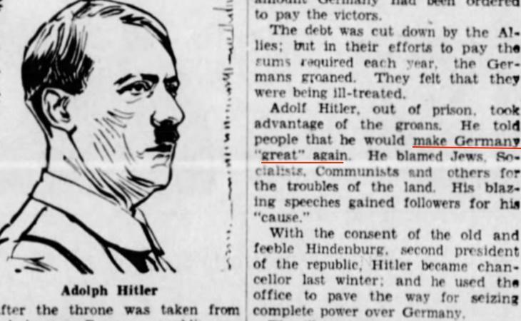 Un periodista ya atribuyó a Hitler estas palabras en 1934