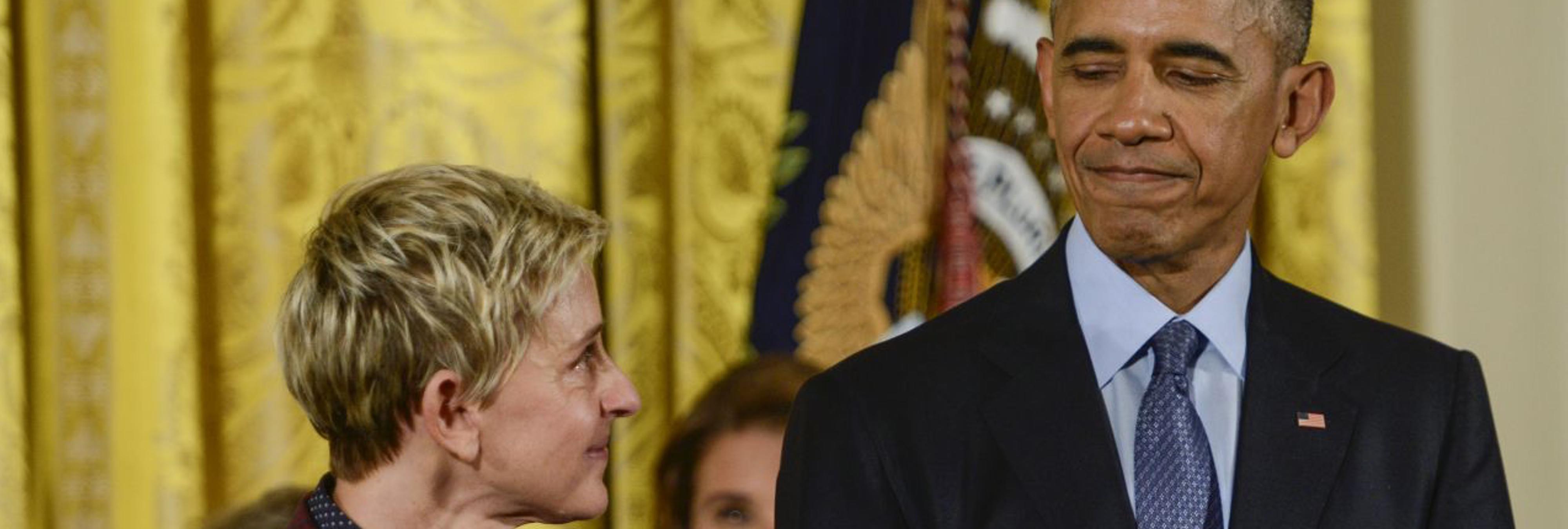 Obama se emociona al dar la Medalla de la Libertad a Ellen DeGeneres