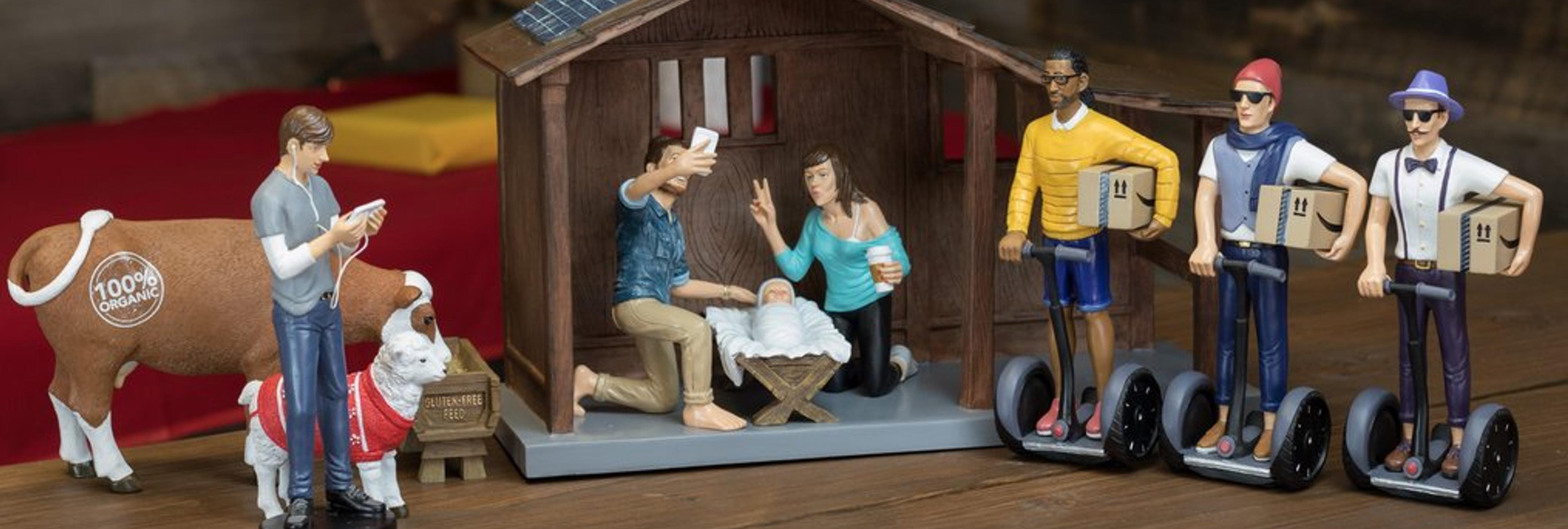 Así sería el Belén si Jesús naciese en 2016