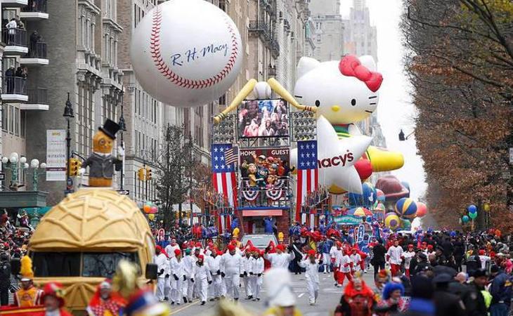 El defile de Acción de Gracias de Macy's en Nueva York es uno de los desfiles más famosos del mundo