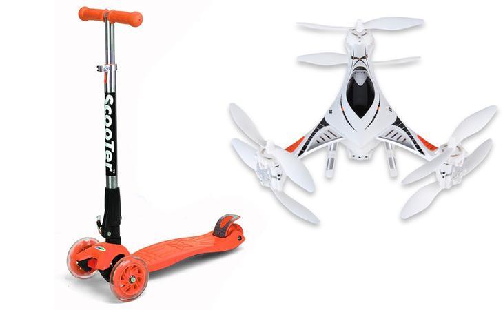 Patinete y Drone a un precio inmejorable