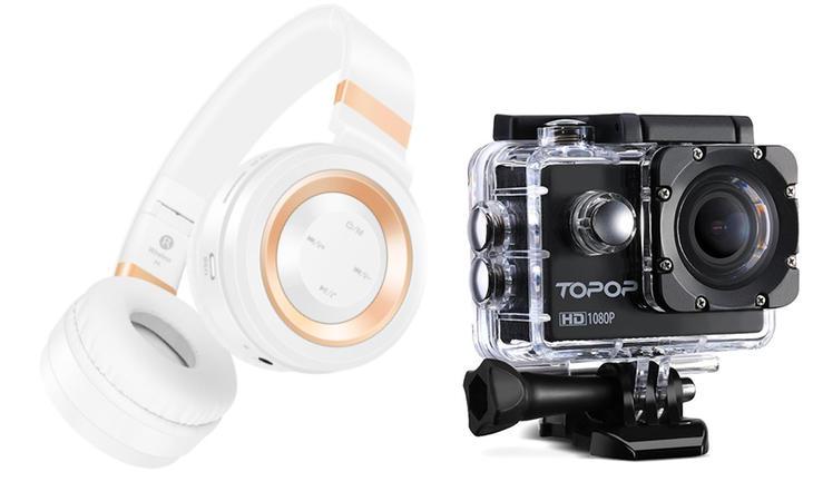 Auriculares y cámara acuática a gran precio