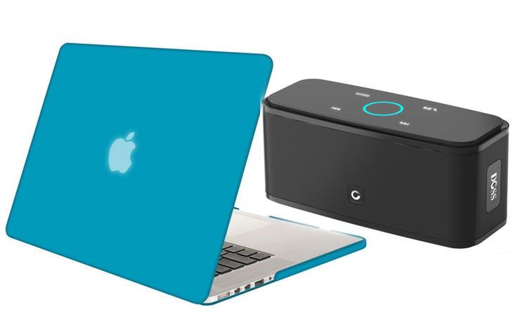 Oferta en funda de McBook y en altavoces