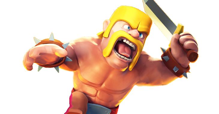 El Barbaro es la unidad distintiva de 'Clash of Clans'