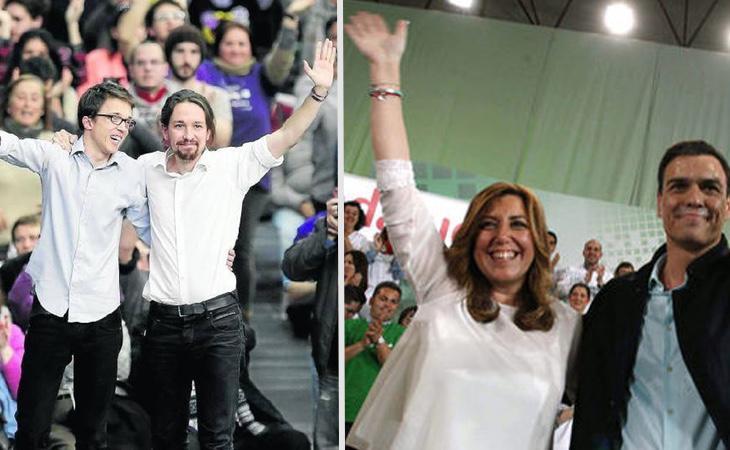 Tanto Podemos como PSOE han hecho frente a luchas internas
