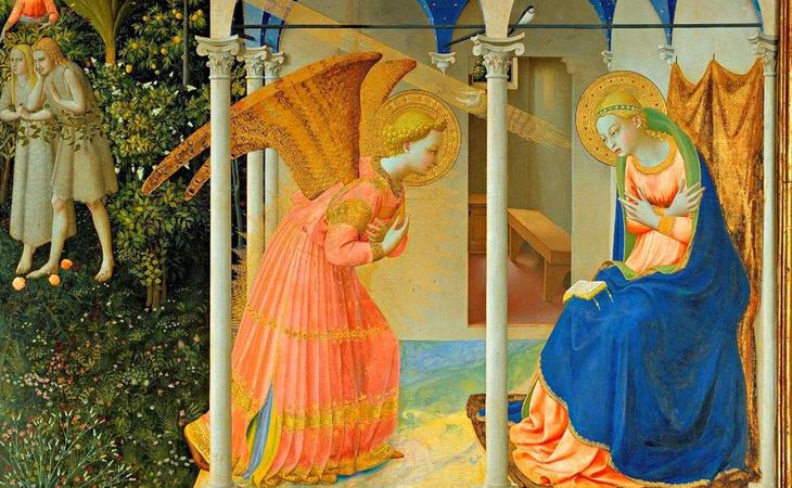 ¿Sería el arcángel San Gabriel un cliente? (La anunicaicón - Fra Angelico)