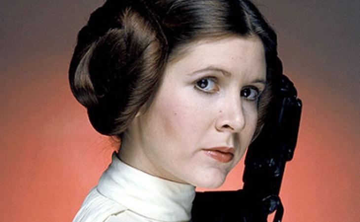 La Princesa Leia, interpretada por Carrie Fisher