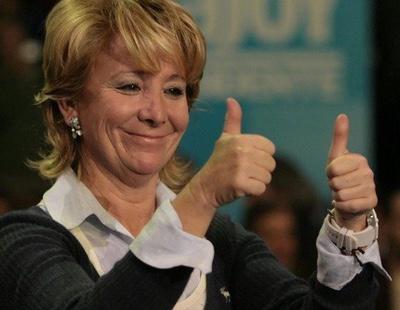 El gráfico de la vergüenza: Esperanza Aguirre cobra tres veces más que un español medio