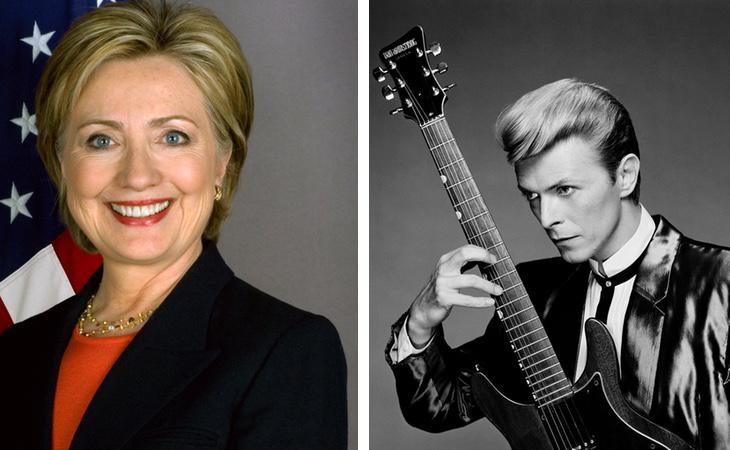 Hillary Clinton / David Bowie