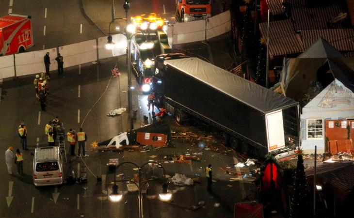 El camión arrolló un mercadillo navideño en Berlín