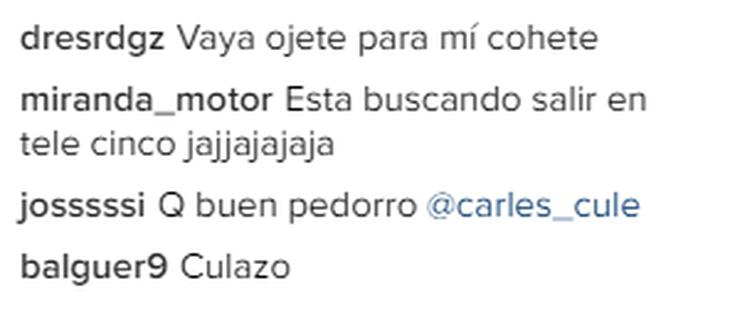 Los últimos comentarios de una de las fotos del Instagram de la joven