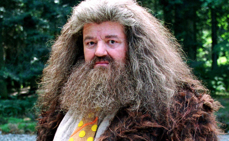 Robbie Coltrane interpreta a Hagrid en la saga 'Harry Potter'