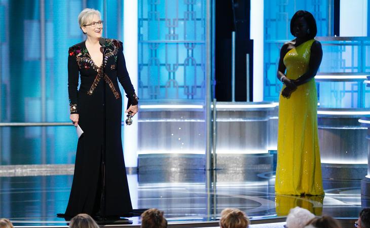 Viola Davis entregó el premio a Meryl Streep