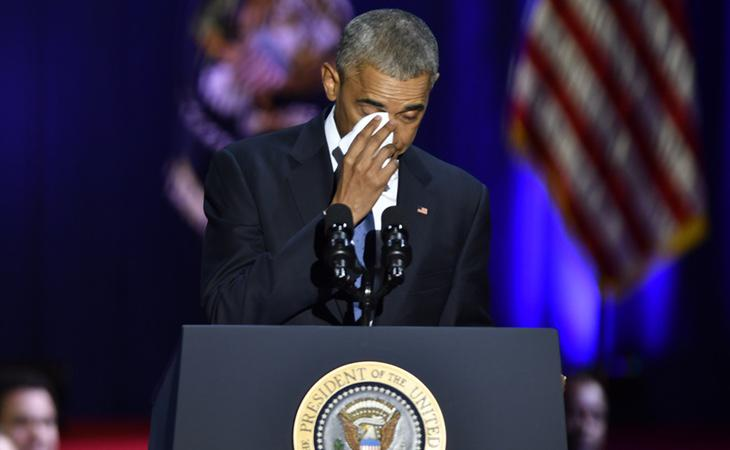 El presidente no pudo evitar derramar alguna lágrima