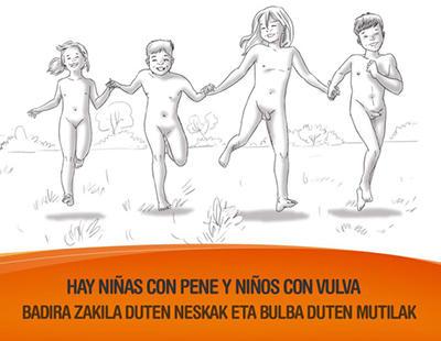 Niñas con pene y niños con vulva en la nueva campaña de concienciación del País Vasco