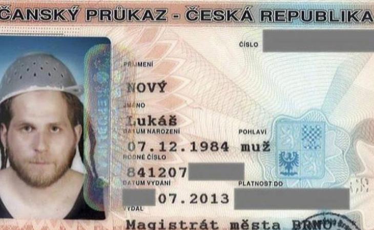 Documento de identidad de Lukas Novy
