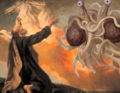 Los pastafaris reivindican el reconocimiento de los espaguetis con albóndigas como religión en España
