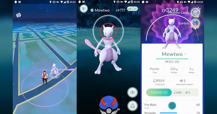 El Pokémon legendario Mewtwo podría ser capturable próximamente.