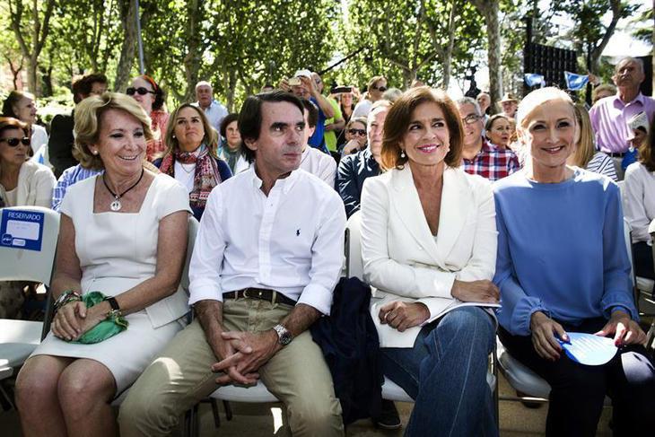Aznar y Cifuentes, las únicas voces discordantes en el PP