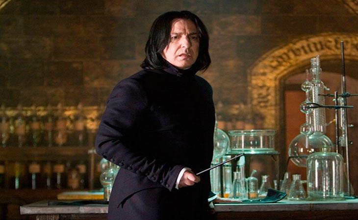 Severus en su clase de pociones