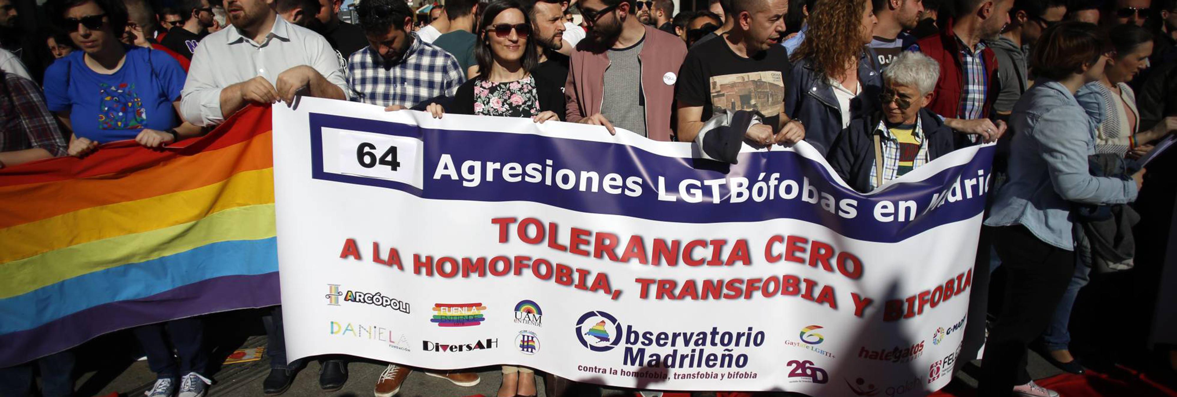 En 2016, el colectivo LGTB madrileño sufrió 239 agresiones