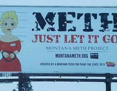 Utilizan a Elsa de 'Frozen' en una campaña sobre adicción a la metanfetamina
