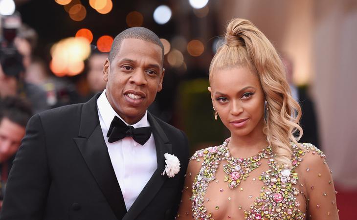 La cantante Beyoncé junto a su marido, el rapero Jay-Z