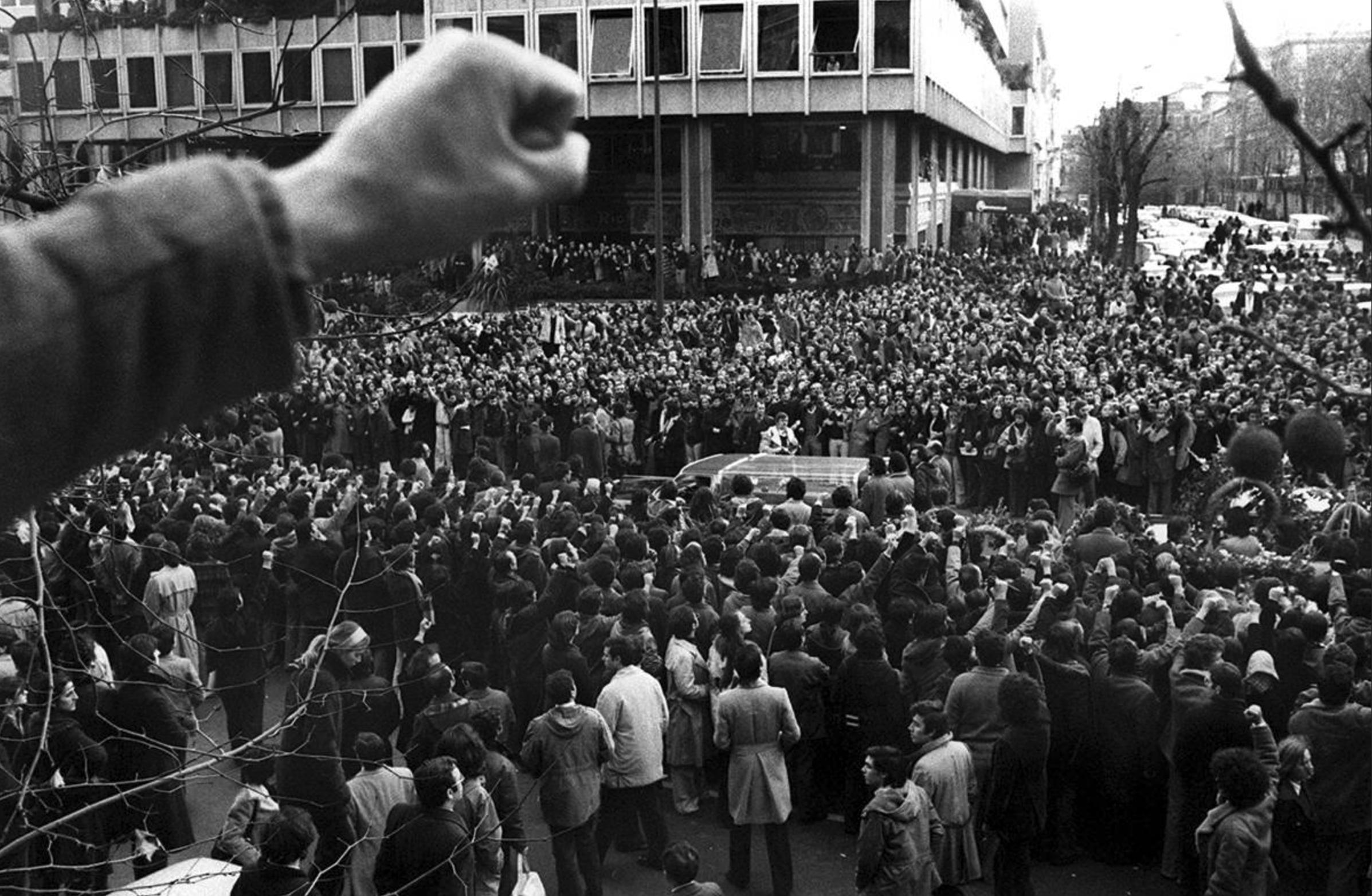 Una de las manifestaciones en repulsa a la matanza de Atocha (Antonio Gabriel)