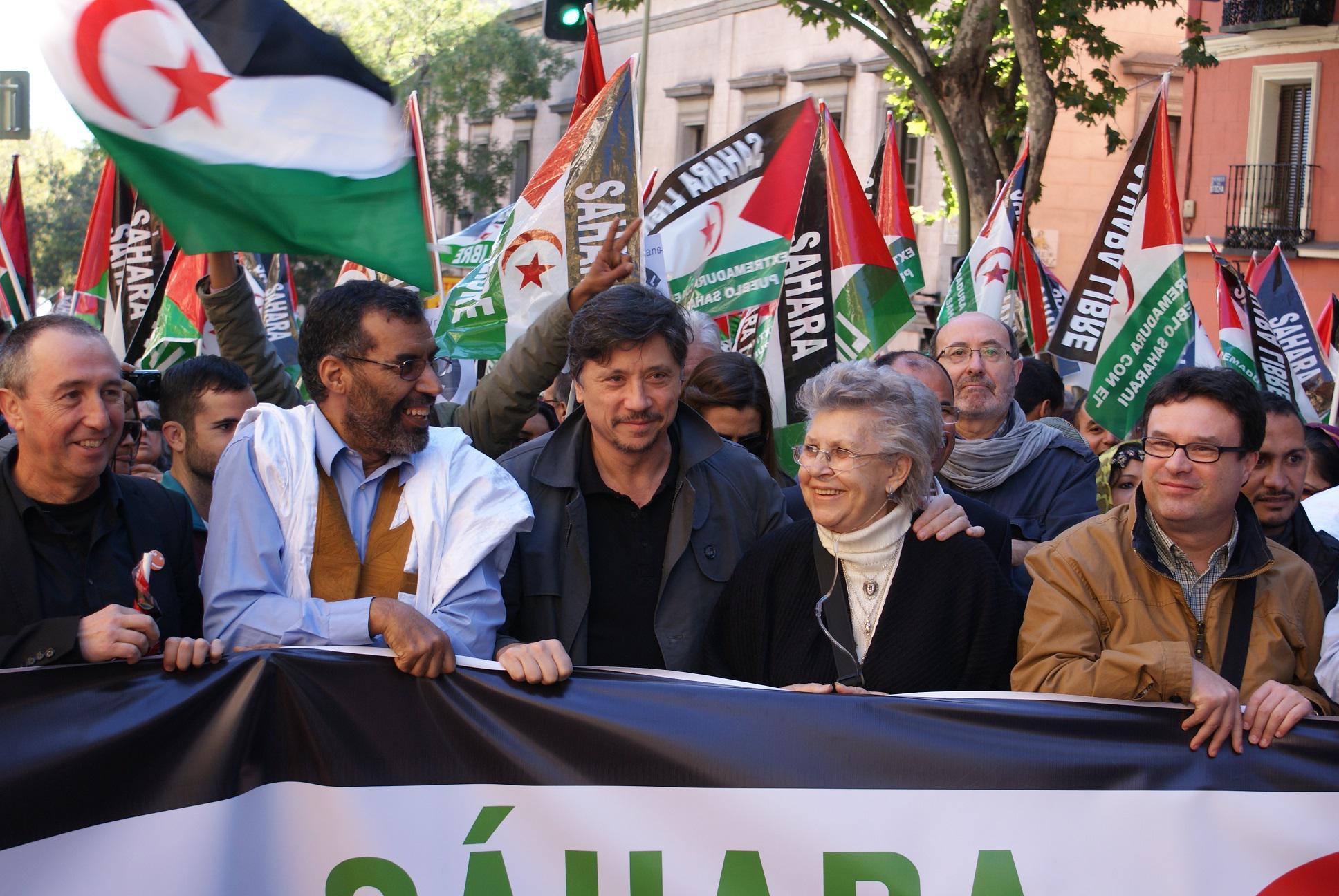 La familia Bardem en una manifestación en apoyo al pueblo sahariano