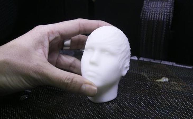 Molde con la cabeza del cantante Fuente: El Periódico