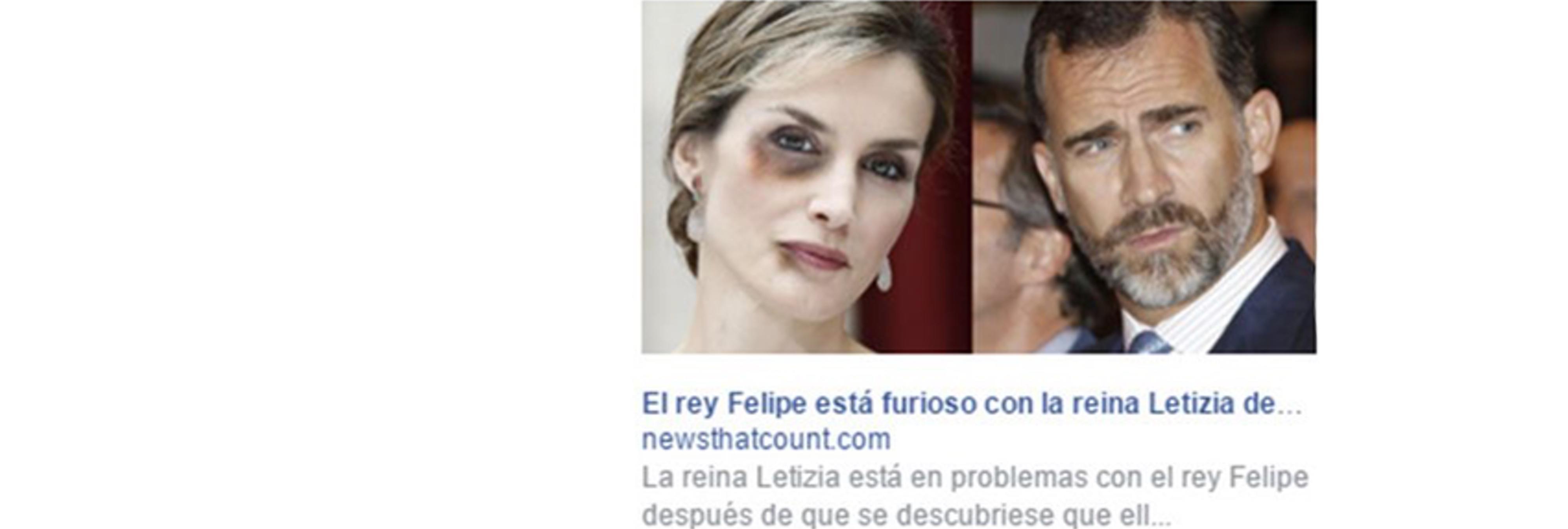 Insinúan que el Rey Felipe golpea a su mujer para vender productos adelgazantes