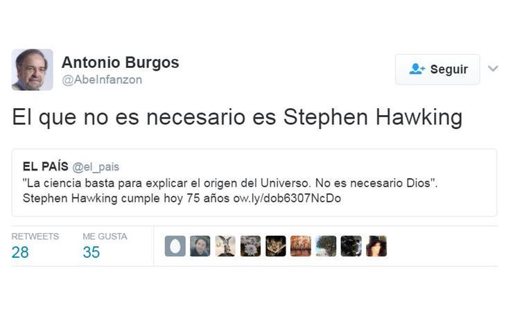 Antonio Burgos pone en cuestión a Stephen Hawking