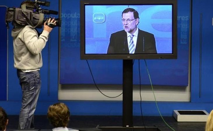 Mariano Rajoy, en una de sus apariciones televisivas