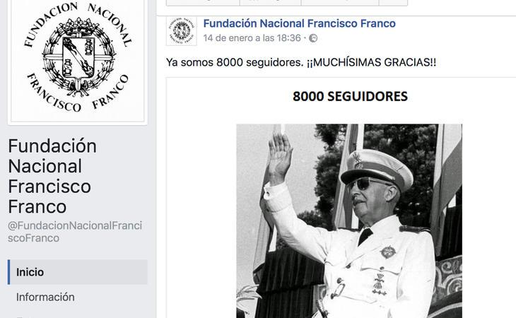 La Fundación Francisco Franco en Facebook