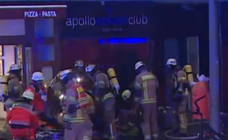 Cuando los efectivos de Emergencias acudieron al lugar aún permanecían en el interior cuatro personas