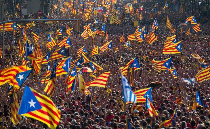 Las manifestaciones a favor de la independencia de Cataluña han contado con un gran apoyo popular en los últimos años
