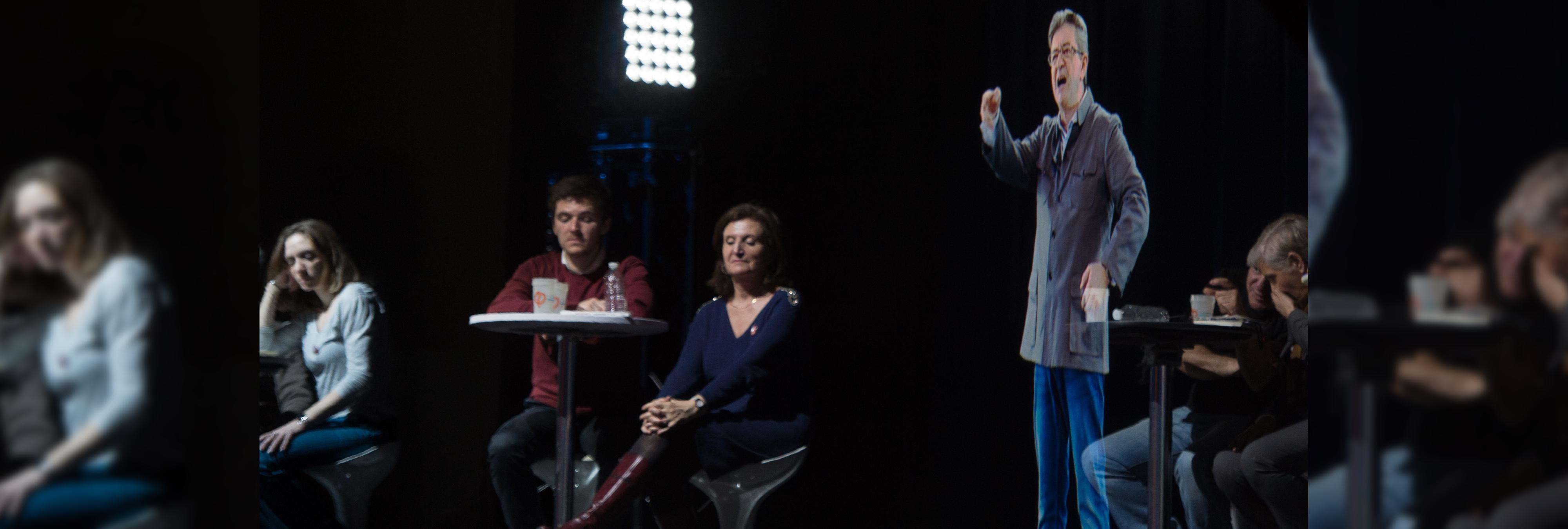 Los mítines por holograma llegan a la política francesa